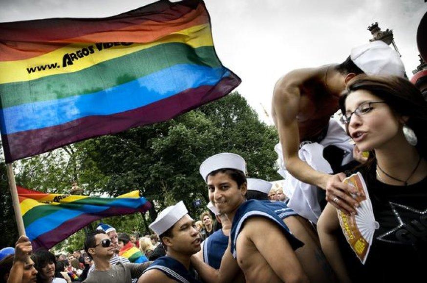 Akimirka iš 14-o gėjų ir lesbiečių parado