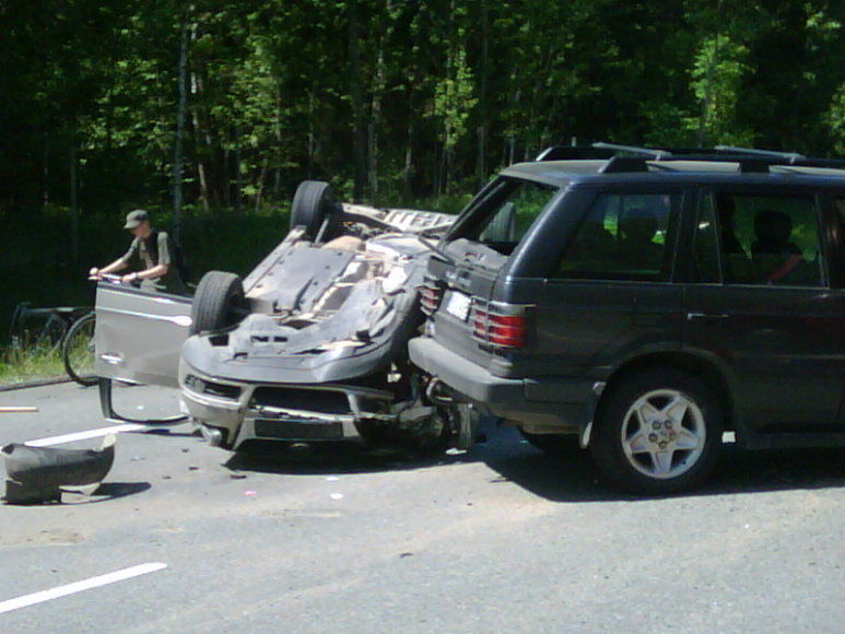 Kadras iš avarijos