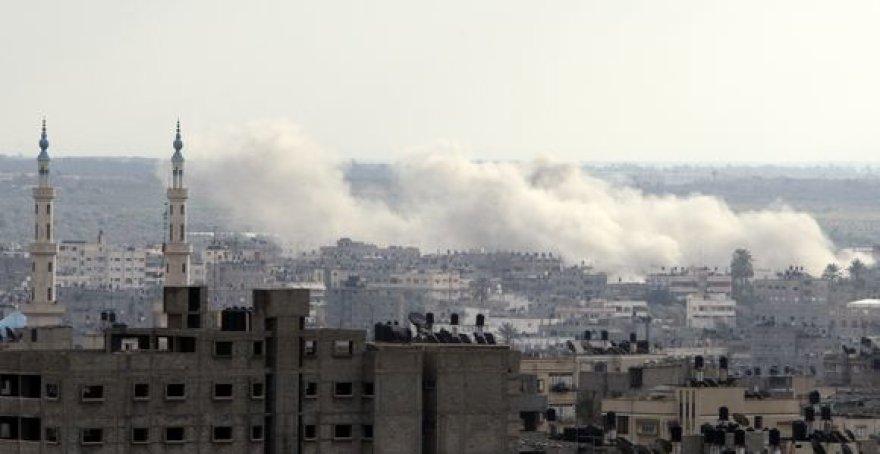 Miestas po oro atakų