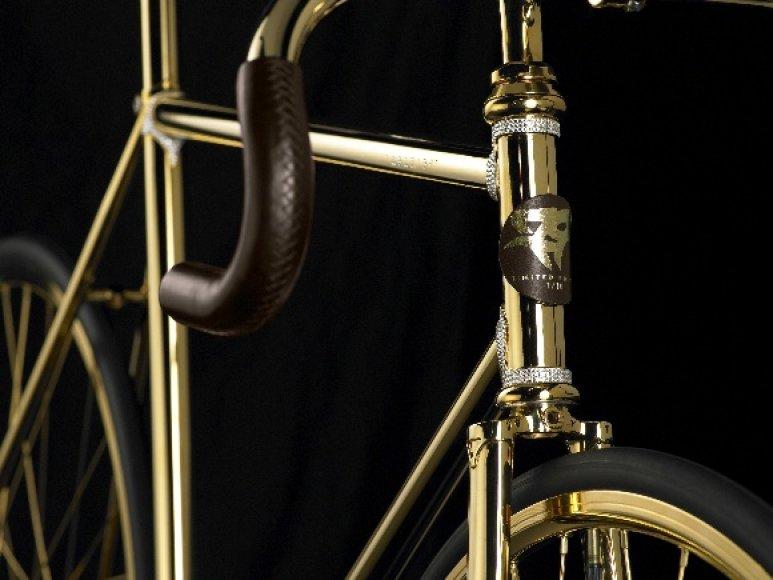 Auksinis Bo Francho sukurtas dviratis