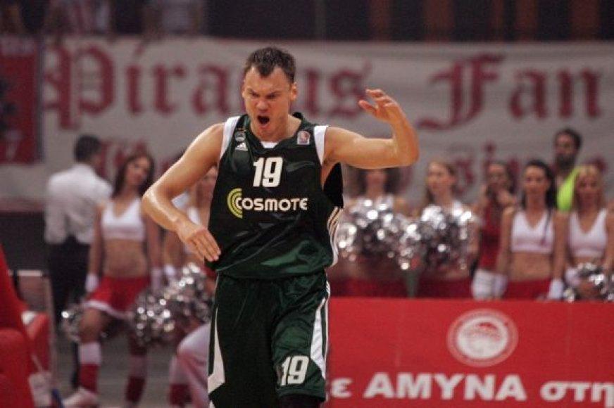 Šarūnas Jasikevičius Graikijoje.