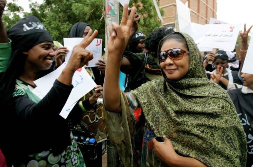Sudano žurnalistė Lubna Ahmed al-Hussein
