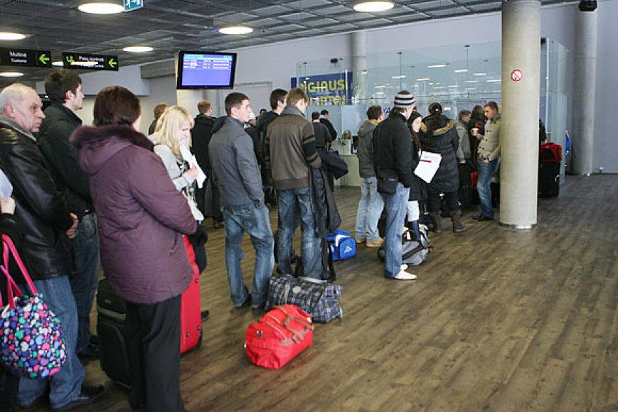 Žiemos stichija Kauno oro uoste