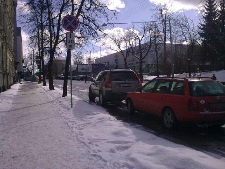 Fotopolicija Mindaugo gatvėje, Vilniuje