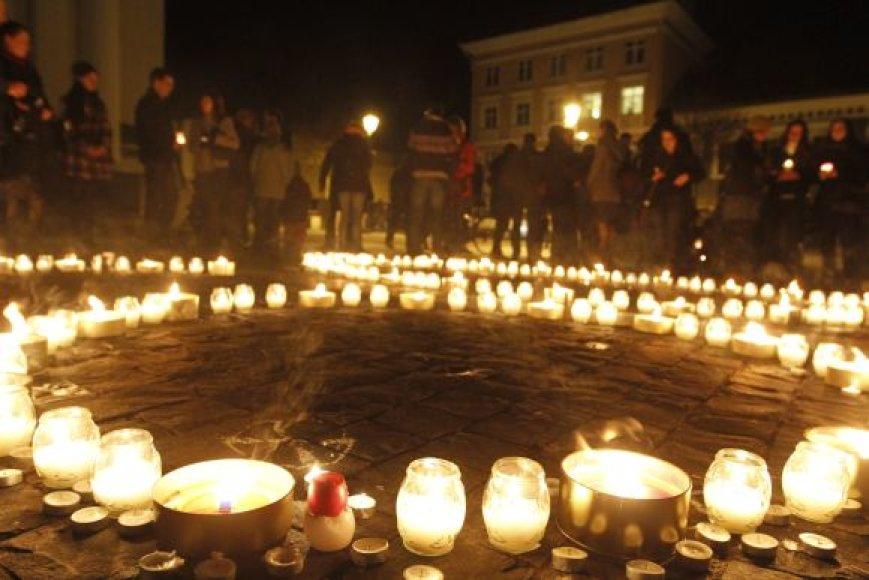 """""""Žemės valandos"""" akcija Vilniuje"""
