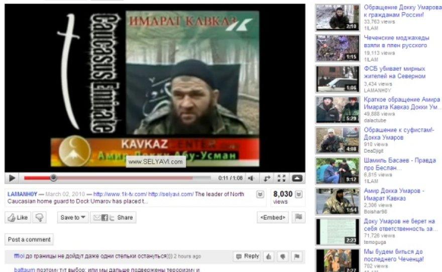 Doku Umarovas kol kas kalba iš YouTube