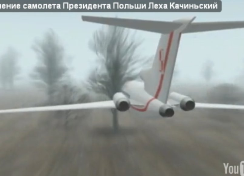L.Kaczynskio lėktuvas (rekonstrukcija)