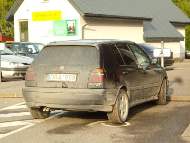 Fotopolicija: VW Golf Garliavoje