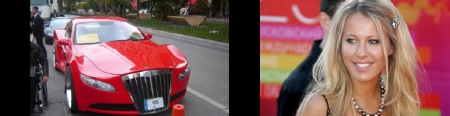 Ksenija Sobčak važinėja AG EXCALIBUR