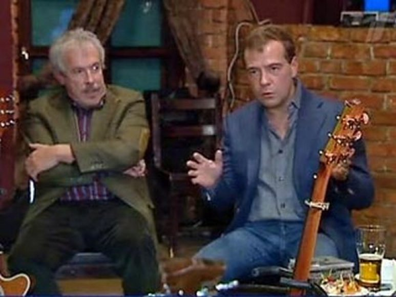 D.Medvedevas su B.Grebenščikovu