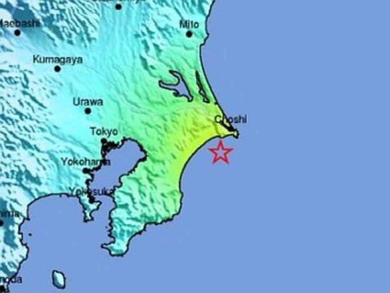 Žemės drebėjimas Japonijoje gegužės 22 d.