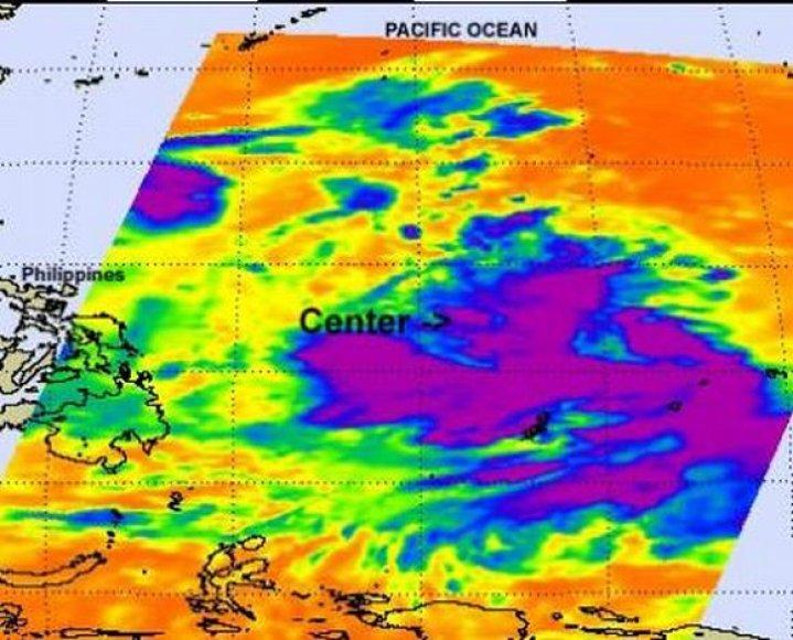 Taifūnas Muifa liepos 27 d. NASA žemėlapyje atrodė taip.