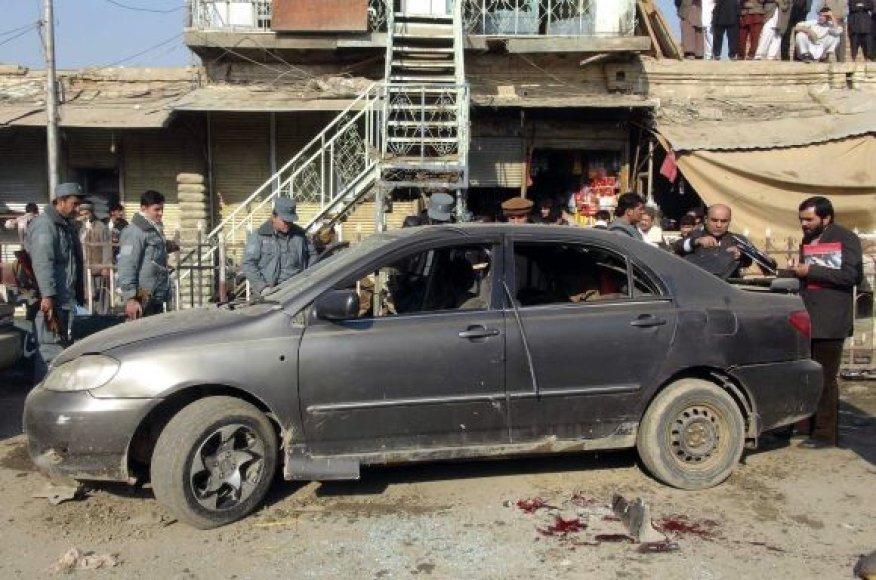Bomba sprogo Kundūzo mieste Afganistane