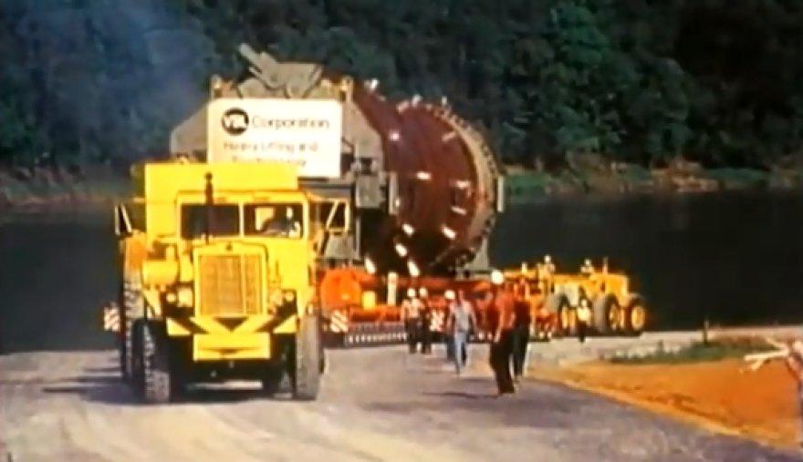 Apie 1 000 tonų sveriančio krovinio gabenimas Jungtinėse Valstijose