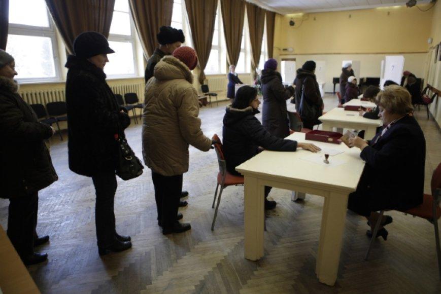 Balsavimo apylinkė Siguldoje