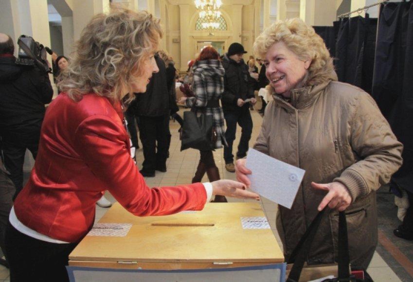 Balsavimo apylinkė Rygoje
