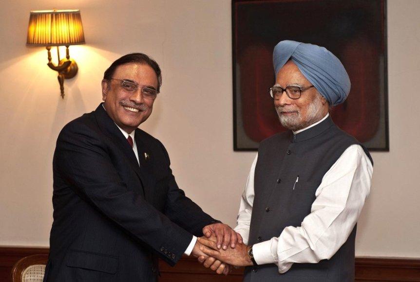 Asifas Ali Zardari ir Manmohanas Singhas