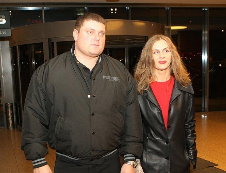 Galiūnas Žydrūnas Savickas su savo drauge Jurgita Vorobjovaite