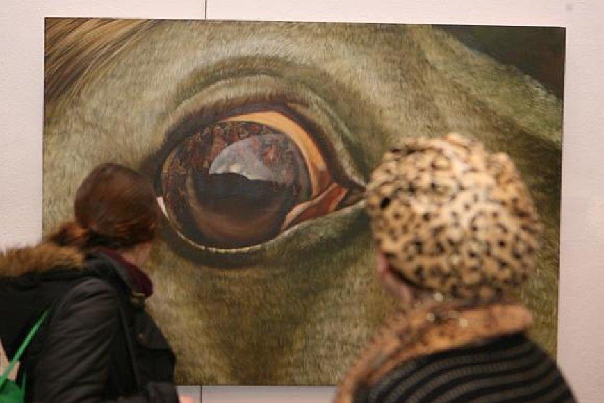 """Tapytojo P.Griušio paveikslas """"Žirgo žvilgsnis"""" atnešė jam sėkmę vasarį vykusiame konkurse-parodoje """"Geriausias 2008 metų kūrinys""""."""