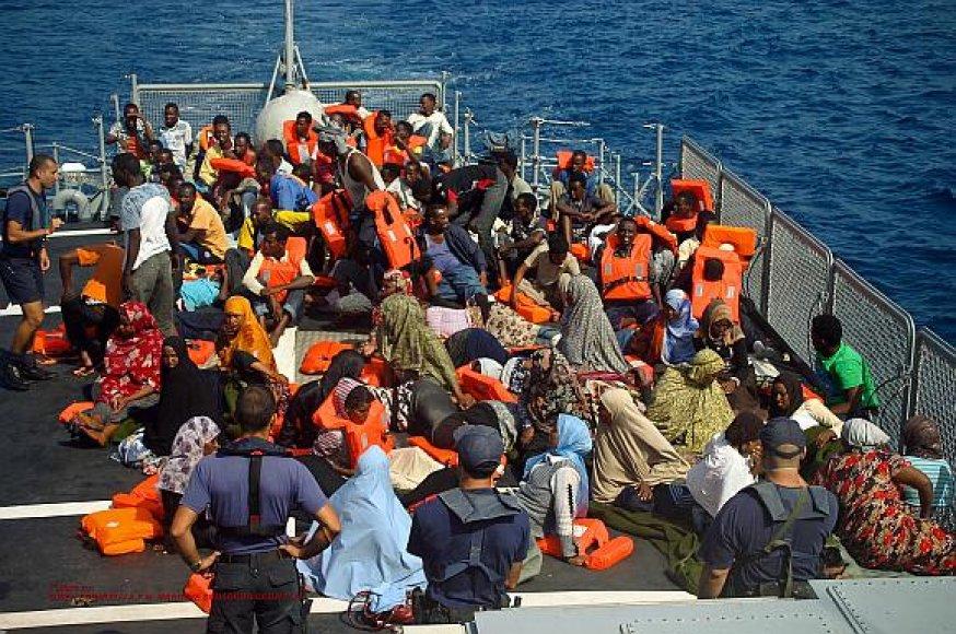 Pabėgėliai iš Afrikos valstybių Maltoje