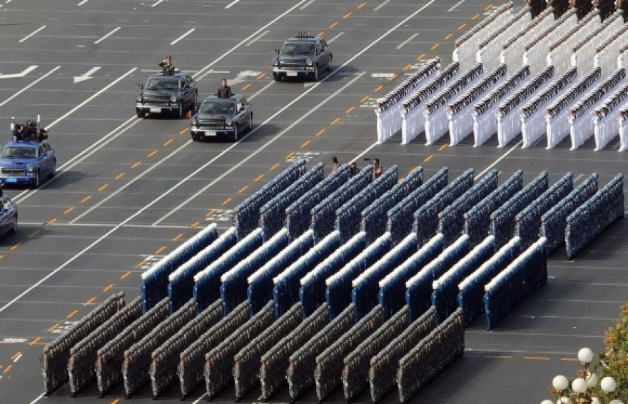Karinis paradas Tiananmenio aikštėje