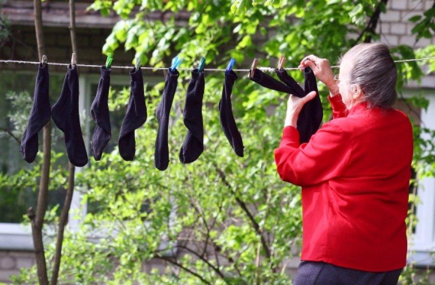Asociatyvinė iliustracija: kojinės