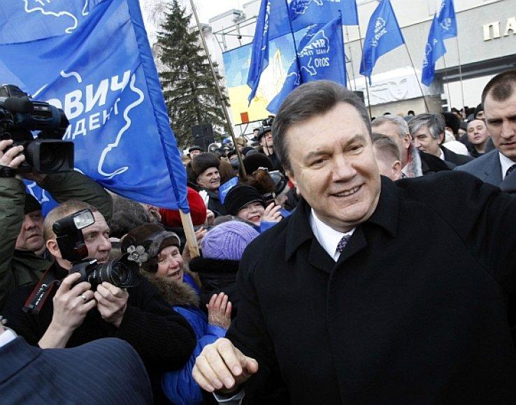 Viktoras Janukovyčius tarp rėmėjų