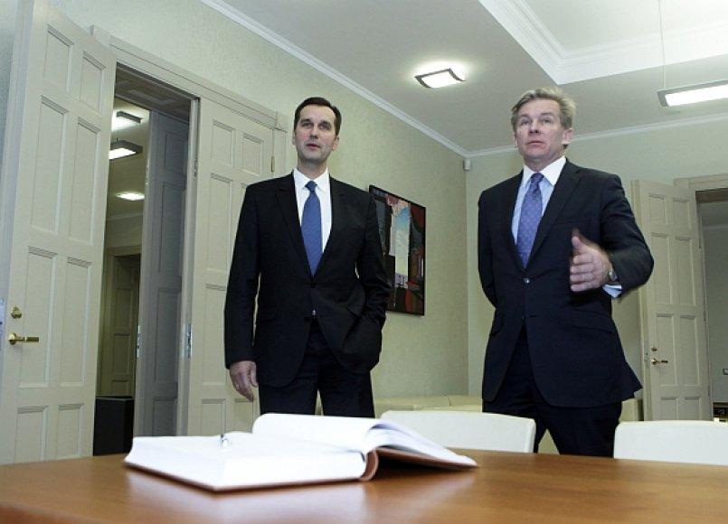 Maris Riekstinis ir Audronius Ažubalis