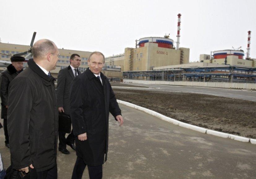 Vladimiras Putinas dalyvavo paleidžiant antrąjį Rostovo (Volgodonsko) atominės elektrinės bloką.