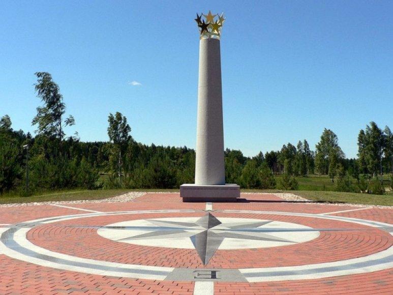 Europos geografinį centrą žyminti skulptūra Purnuškėse