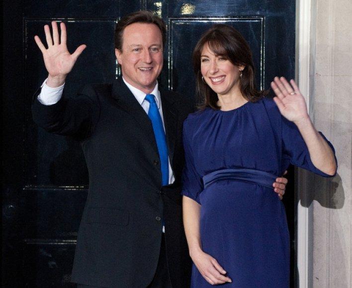 Davidas Cameronas su žmona Samantha