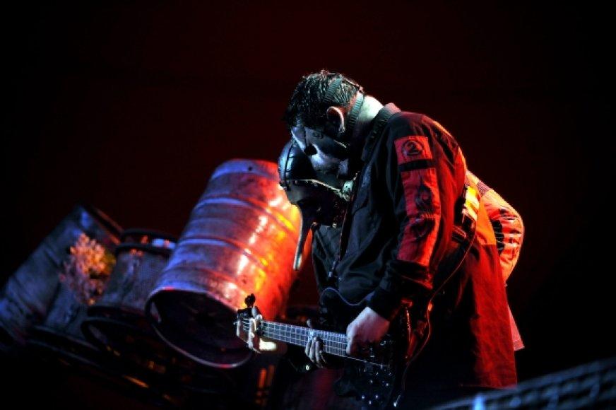 "Grupė ""Slipknot"" ant scenos"