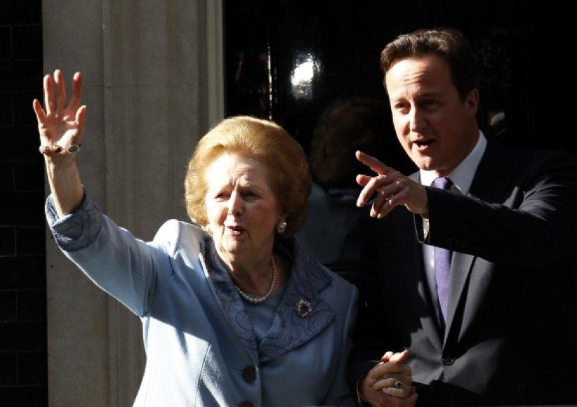 Margaret Thatcher ir Davidas Cameronas