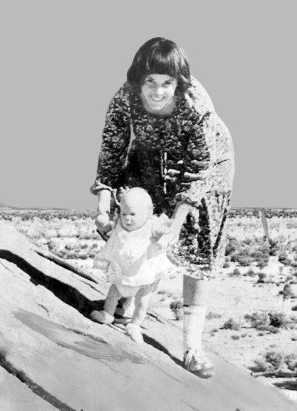 1980-ųjų fotografijoje įamžinta vėliau dingusi Azaria Chamberlain su savo motina Lindy.