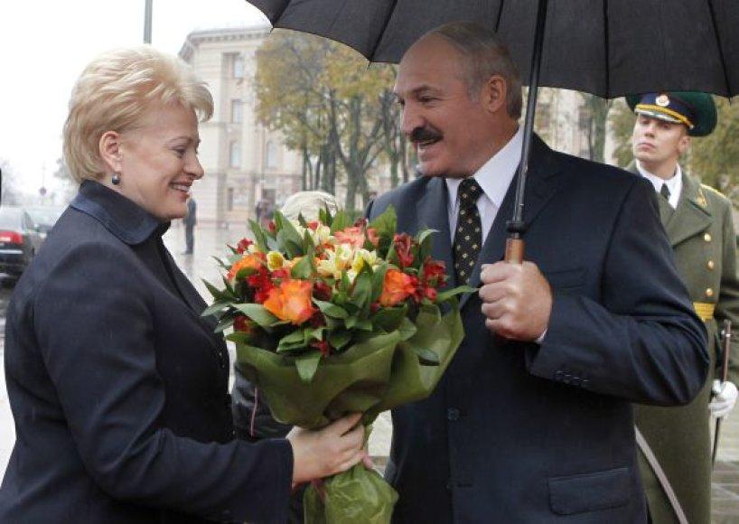 Dalia Grybauskaitė ir Aleksandras Lukašenka Minske