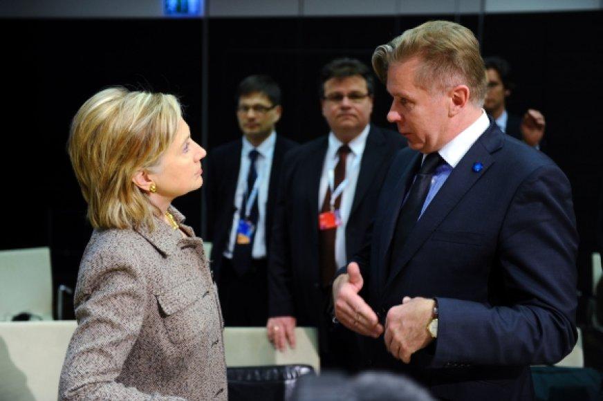 Hillary Clinton ir Audronius Ažubalis