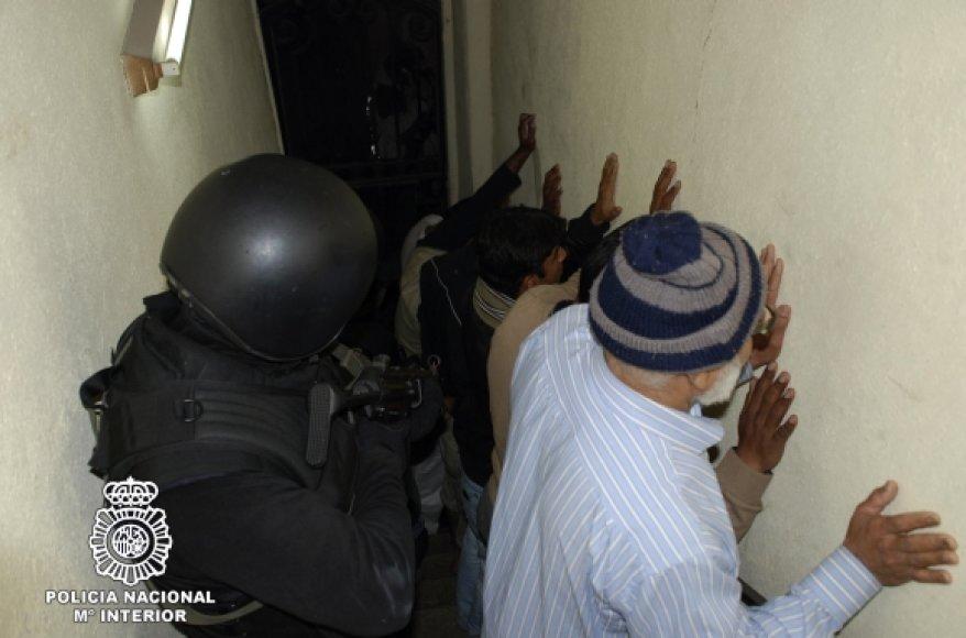 Ispanijoje sulaikyti įtariami teroristai.
