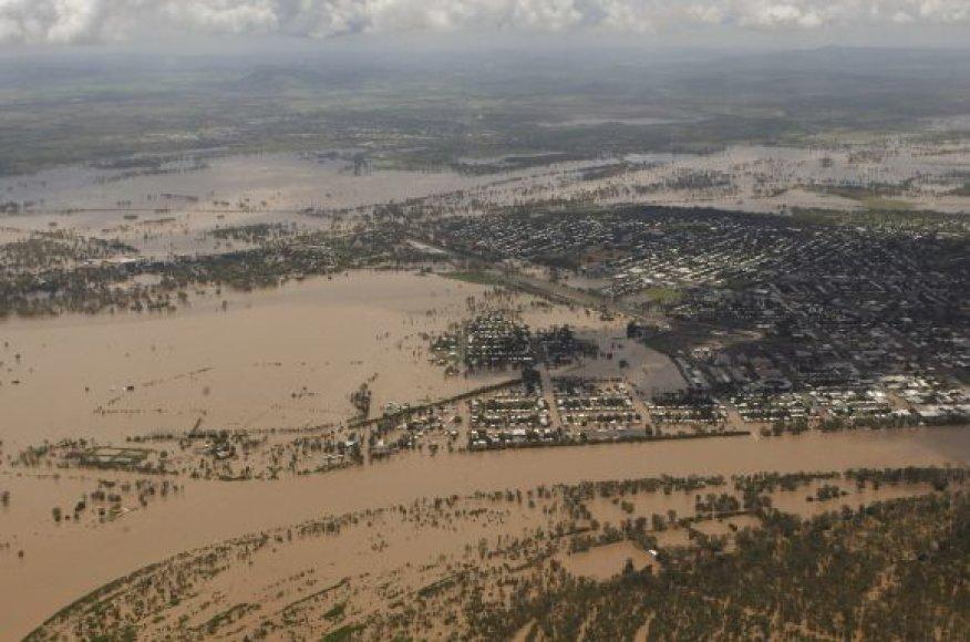 Potvynio apsemta teritorija