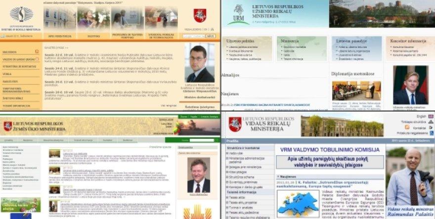 Kiekvienos ministerijos interneto svetainė šiuo metu yra skirtinga ir unikali.