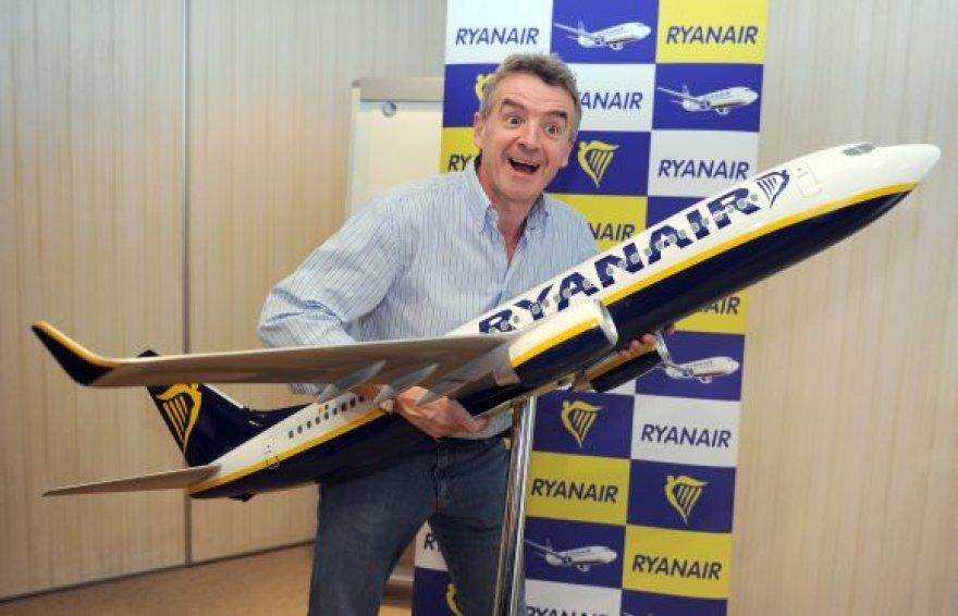 """""""Ryanair"""" kompanijos vadovas Michaelas O'Leary"""
