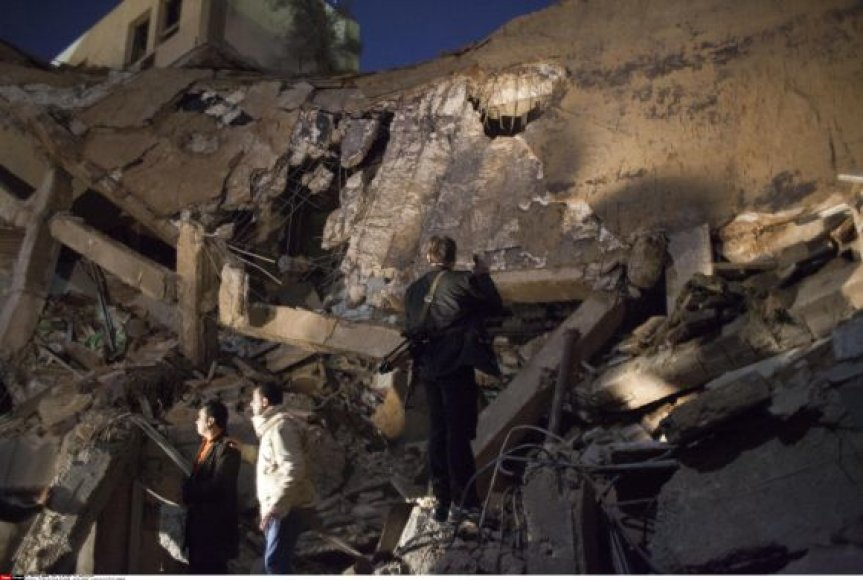 Sugriauta Muaharo Kadhafi pajėgų vadavietė Tripolyje