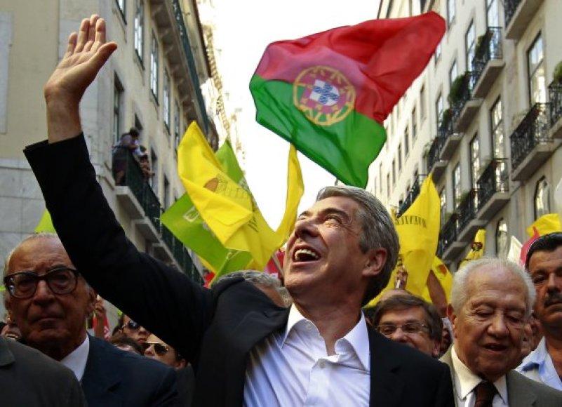 Premjero Jose Socrateso partija šį kartą gali likti antra.