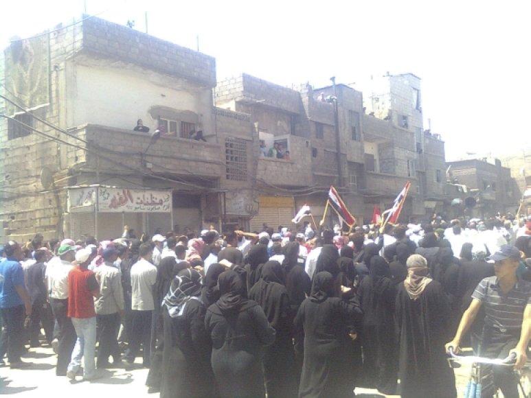 Antivyriausybiniai protestai Sirijoje beveik kasdien baigiasi kraujo praliejimu.