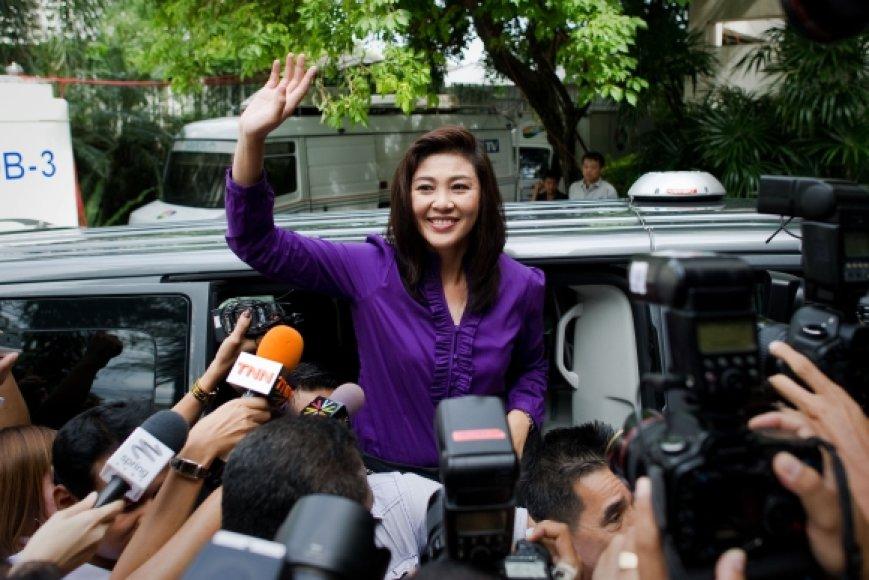 Yingluck Shinawatra gali tapti pirmąja moterimi, vadovausiančia Tailando vyriausybei.