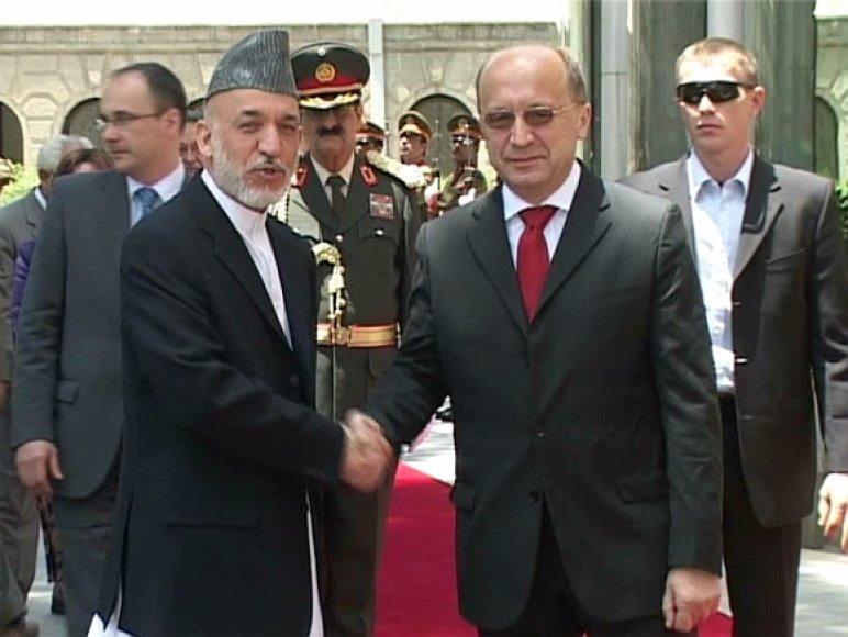 Hamidas Karzai ir Andrius Kubilius
