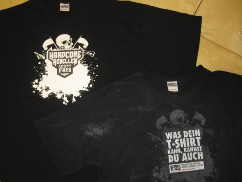 Marškinėliai prieš ir po išskalbimo