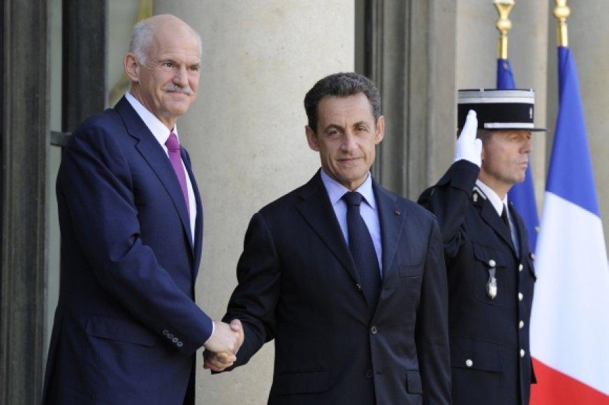 Georgas Papandrėjus ir Nicolas Sarkozy
