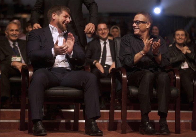 Ramzanas Kadyrovas ir Jenas-Claude'as Van Damme'as