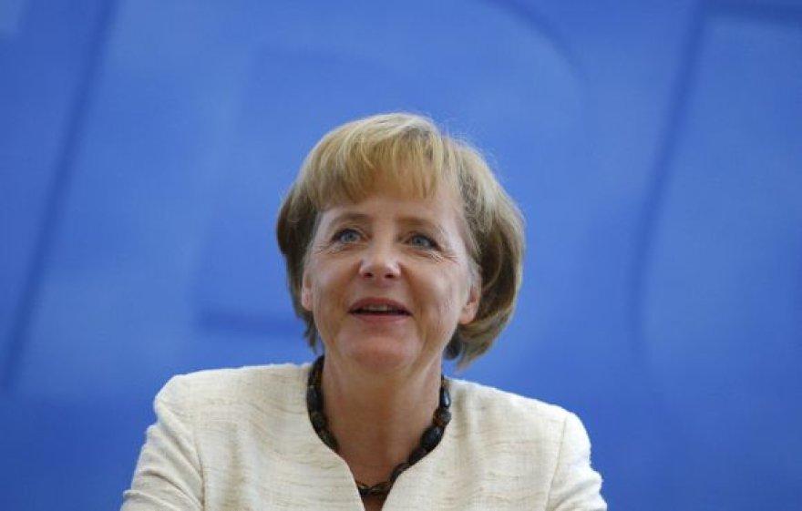 Vokietijos kanclerė Angela Merkel šiandien susitinka su Lietuvos prezidentu ir premjeru.