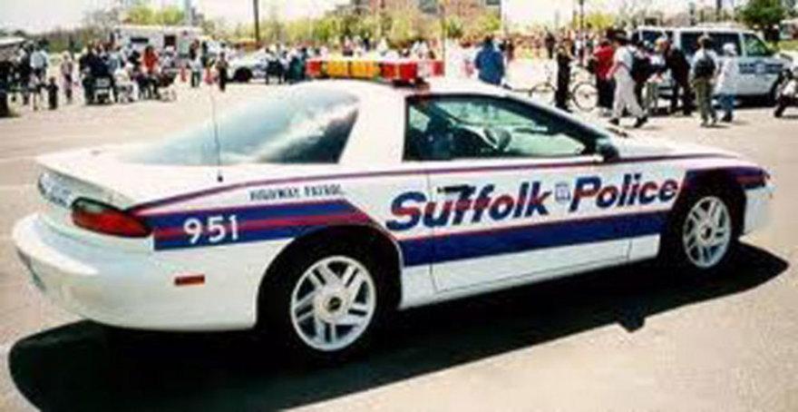 Safolko apygardos, kurioje žuvo lietuvis, policijos automobilis